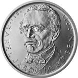 Pamätná strieborná minca, 500Kč 200. výročie narodenia Karla Jaromíra Erbena stand
