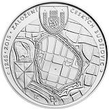 Pamätná strieborná minca, 200Kč Založenie Českých Budějovíc ako kráľovského mesta stand