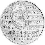 Pamätná strieborná minca, 200Kč Bedřich Hrozný rozlúštil chetitčinu stand