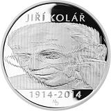 Pamätná strieborná minca, 500Kč Jiří Kolář proof