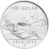Pamätná strieborná minca, 500Kč Jiří Kolář stand