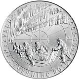 Pamětní stříbrná mince, 200Kč 100. výročí dosažení severního pólu stand