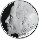 Pamětní stříbrná mince, 200Kč 150. výročí narození Gustava Mahlera proof
