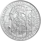 Pamětní stříbrná mince, 200Kč 600. výročí - Sestrojení Staroměstského orloje stand