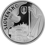 Pamětní stříbrná mince, 10EUR Ján Cikker - 100. výročí narození proof