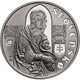 Pamätná strieborná minca, 10EUR Majster Pavol z Levoče stand