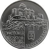 Pamětní stříbrná mince, 20EUR Památková rezervace Trenčín stand