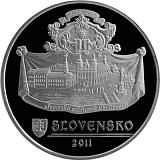 Pamětní stříbrná mince, 20EUR Památková rezervace Trnava proof