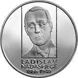 Pamätná strieborná minca, 10EUR Ladislav Nádaši-Jégé - 150. výročie narodenia proof