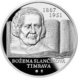 Pamětní stříbrná mince, 10EUR Božena Slančíková - Timrava - 150. výročí narození proof