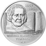 Pamětní stříbrná mince, 10EUR Božena Slančíková - Timrava - 150. výročí narození stand