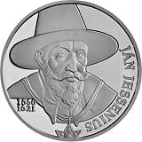 Pamätná strieborná minca, 10EUR Ján Jessenius - 450. výročie narodenia stand