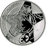 Pamätná strieborná minca, 10EUR Enzo Ferrari proof