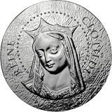 """Pamětní stříbrná mince, 10EUR 2016 """"Ženy Francie - Královna Chrodechilda"""" proof"""