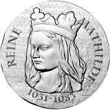 """Pamětní stříbrná mince, 10EUR 2016 """"Ženy Francie - Královna Matylda"""" proof"""