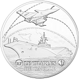 "Pamätná strieborná minca, 10EUR 2016 ""Veľké lode - Charles de Gaulle"" proof"