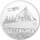 """Pamětní stříbrná mince, 50EUR 5 oz 2016 """"Velké lodě - Ile de France"""" proof"""