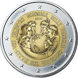 Pamětní mince, 2EUR Pontifikát papeže Františka 2015 stand - 8. světové setkání rodin ve Filadelfii