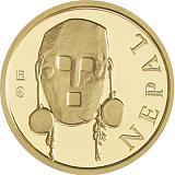 Investičná zlatá minca Royalty, 50FRANCS CFA Maska z regiónu Nepál