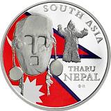 Investičná strieborná minca Royalty, 20FRANCS CFA Maska z regiónu Nepál