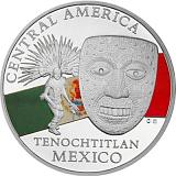 Investičná strieborná minca Royalty, 20FRANCS CFA Maska z regiónu Mexiko