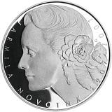Pamätná strieborná minca, 200Kč 100. výročie narodenia Jarmily Novotnej proof