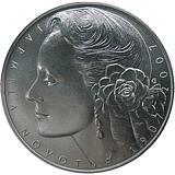 Pamätná strieborná minca, 200Kč 100. výročie narodenia Jarmily Novotnej stand