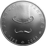 Pamětní stříbrná mince, 200Kč 150. výročí narození Viktora Ponrepa stand