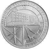 Pamětní stříbrná mince, 200Kč 100. výročí založení Národního technického muzea stand