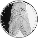 Pamětní stříbrná mince, 200Kč 100. výročí úmrtí Josefa Hlávky proof