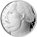 Pamätná strieborná minca, 500Kč 100. výročie narodenia Jiřího Trnky proof