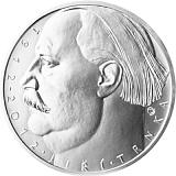 Pamětní stříbrná mince, 500Kč 100. výročí narození Jiřího Trnky stand