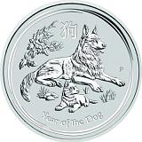 Investiční stříbrná mince Lunární série - rok psa 2AUD 2 oz