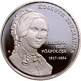 Pamětní stříbrná mince, 10000HUF 200. výročí narození Zsuzsanny Kossuth proof