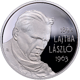 Pamětní stříbrná mince, 5000HUF 125. výročí narození Lászla Lajtha proof