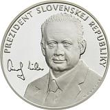 """Stříbrná investiční medaile """"Prezident Slovenské republiky - Andrej Kiska"""""""