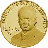 """Zlatá investičná medaila """"Prezident Slovenskej republiky - Andrej Kiska"""""""