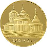 """Zlatá investičná medaila """"Skvosty architektúry Slovenska - Drevené kostolíky"""" Bodružal"""