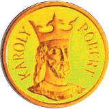 Pamětní zlatá mince, 10000HUF Král Karel Robert 1992