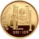 Pamětní zlatá mince, 50000HUF 775. výročí narození Markéty Uherské proof