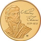 Pamětní zlatá mince, 50000HUF Ferenc Kazinczy 2009