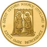 Pamětní zlatá mince, 50000HUF Štěpán I. Svatý 2010