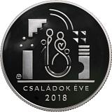 """Pamětní stříbrná mince, 10000HUF """"Rok rodin"""" proof"""