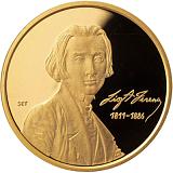 Pamětní zlatá mince, 50000HUF Ferenc Liszt 2011