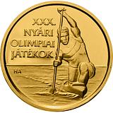 Pamětní zlatá mince, 5000HUF 30. Olympijské hry 2012