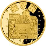 """Pamětní zlatá mince, 5000Kč Cyklus """"Hrady"""" Zvíkov proof"""