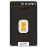 Investičné zlato, zliatok Argor Heraeus 1 g