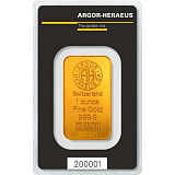 Investiční zlato, slitek Argor Heraeus 1 oz