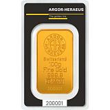Investičné zlato, zliatok Argor Heraeus 100 g