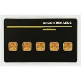 Investiční zlato, slitek Argor Heraeus Multicard 5 x 1g